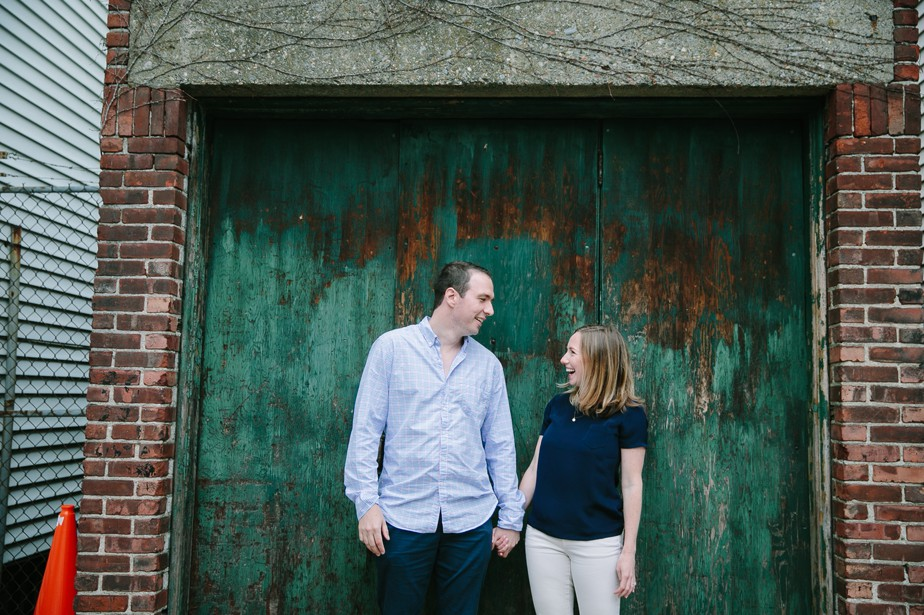 city engagement photos in south boston