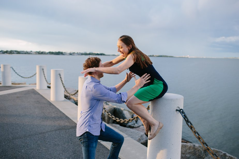 fun and candid engagement shoot at JFK Library Boston