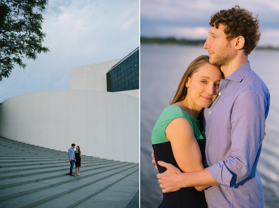 artistic and natural engagement shoot at JFK Library