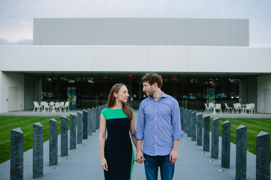 JFK Library wedding engagement shoot