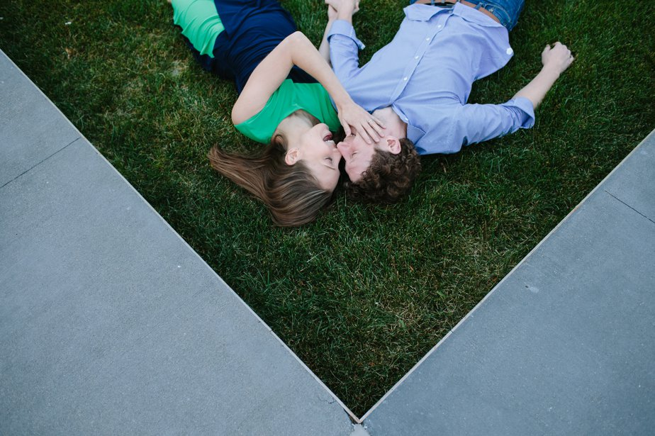 creative fun natural engagement photos at JFK Library