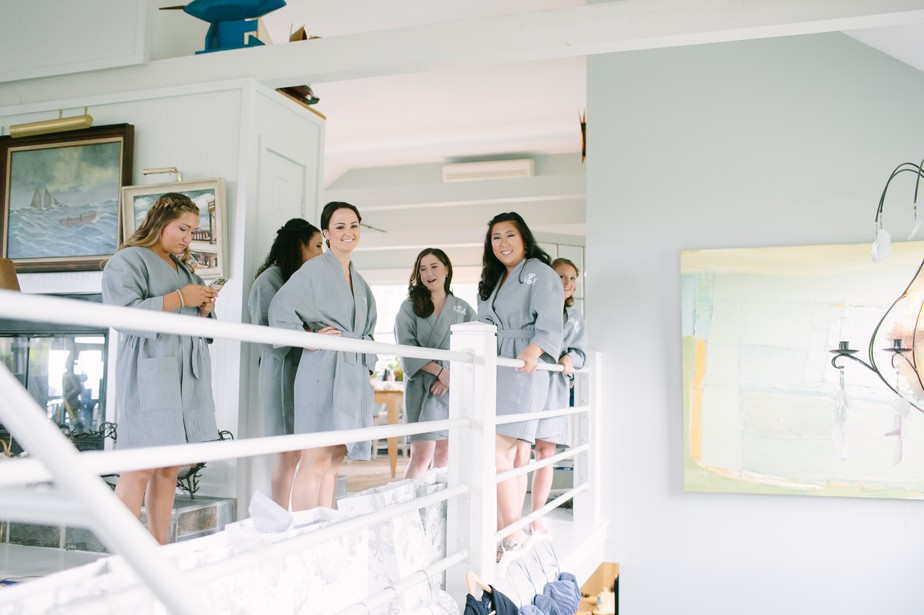 bridesmaids pilgrim monument wedding provincetown Ptown