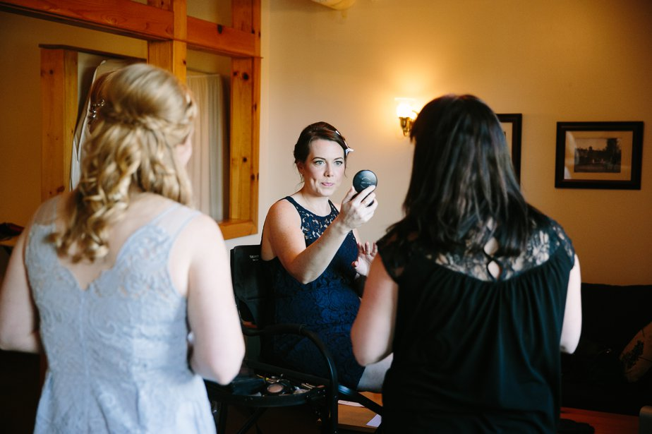 bridesmaid makeup at mt hood organic farm