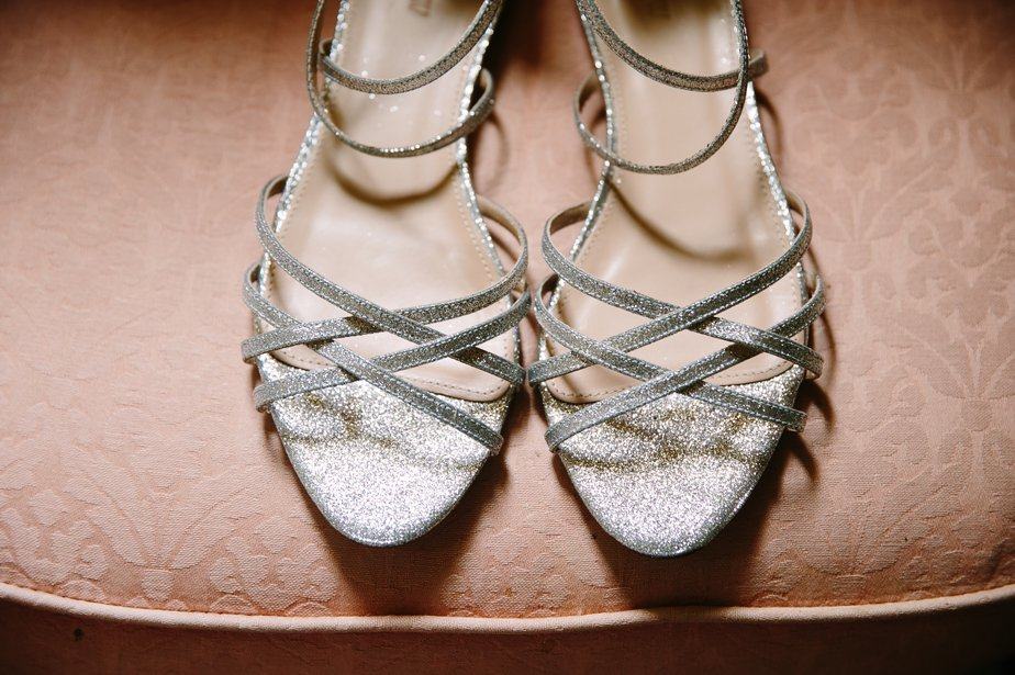 silver strappy wedding sandals