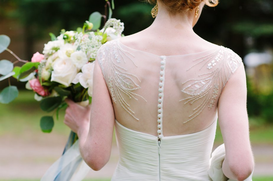 grecian wedding dress at destination wedding mt hood organic farm