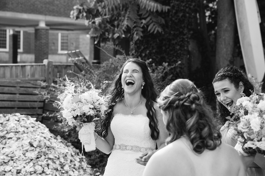 laughing bride pilgrim monument wedding provincetown Ptown