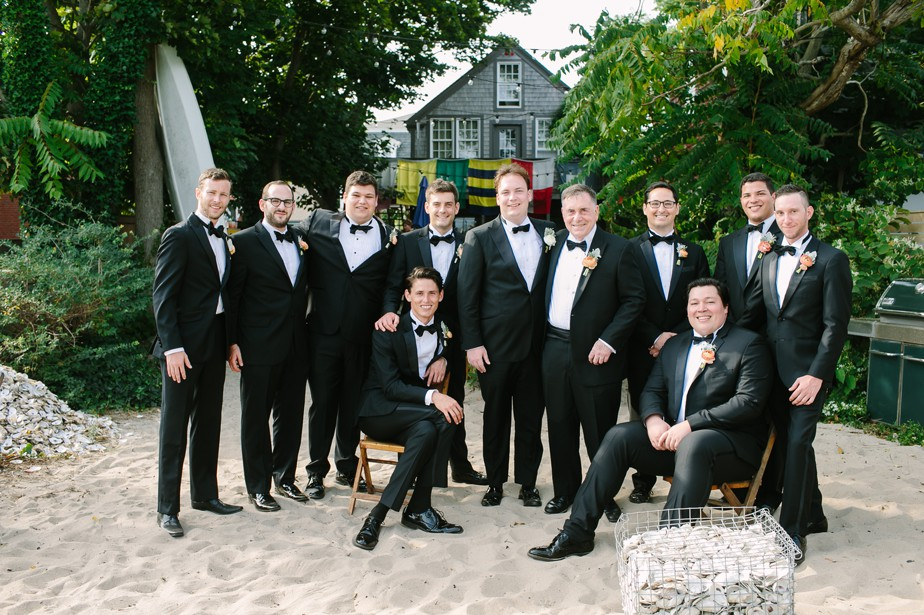 bowtie groomsmen at the canteen for pilgrim monument wedding provincetown Ptown
