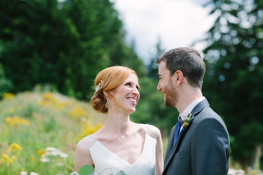 PNW wedding at mt hood organic farm