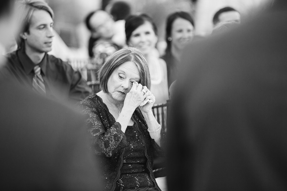 mom cries at boston wedding candid photographer