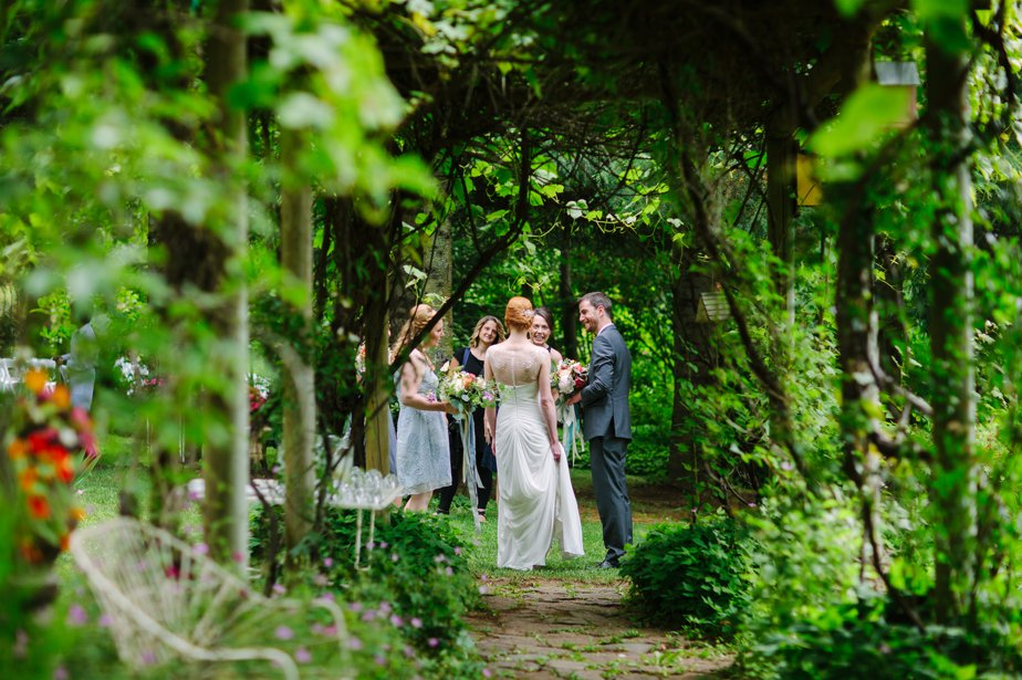 garden wedding NH mountain inspiration