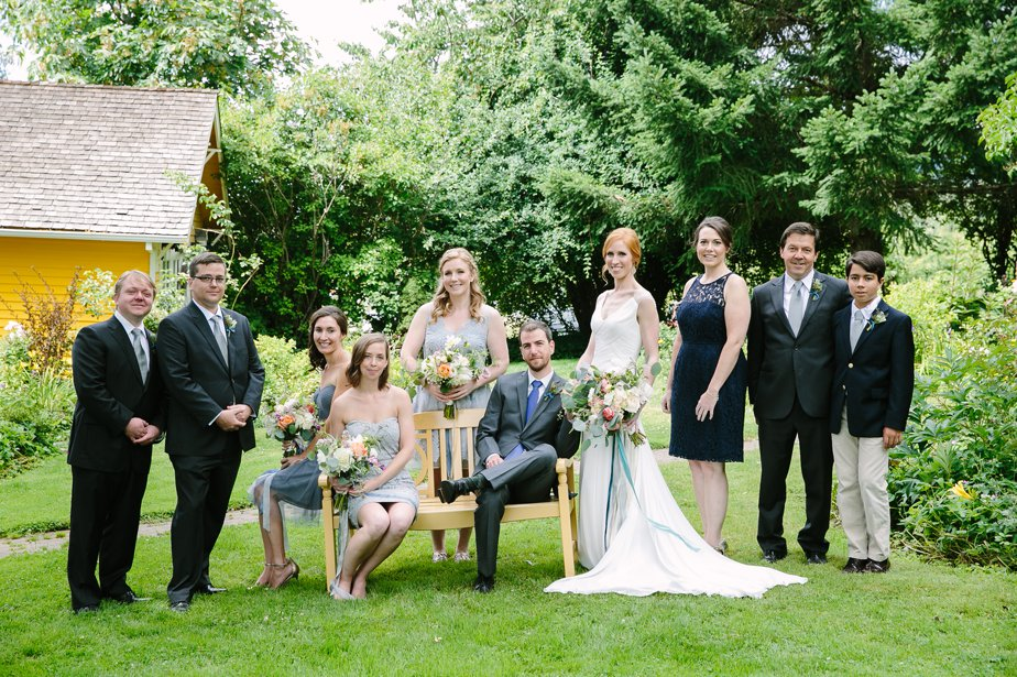 wedding party at mt hood organic farm oregon