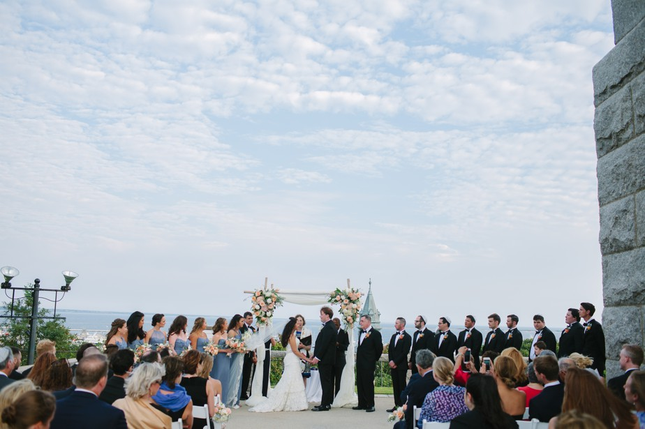 ceremony at pilgrim monument wedding provincetown Ptown