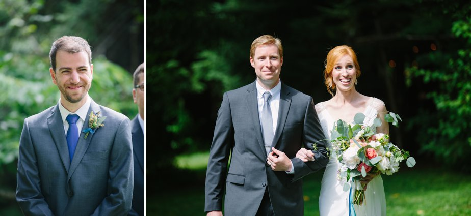 brother brings bride down the aisle