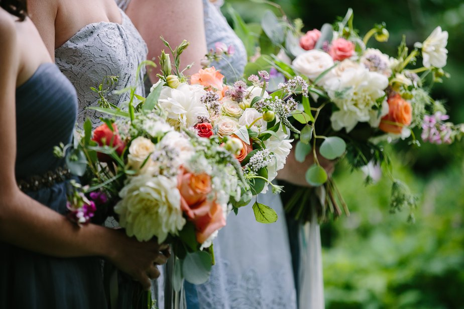 romantic and organic flowers for garden wedding