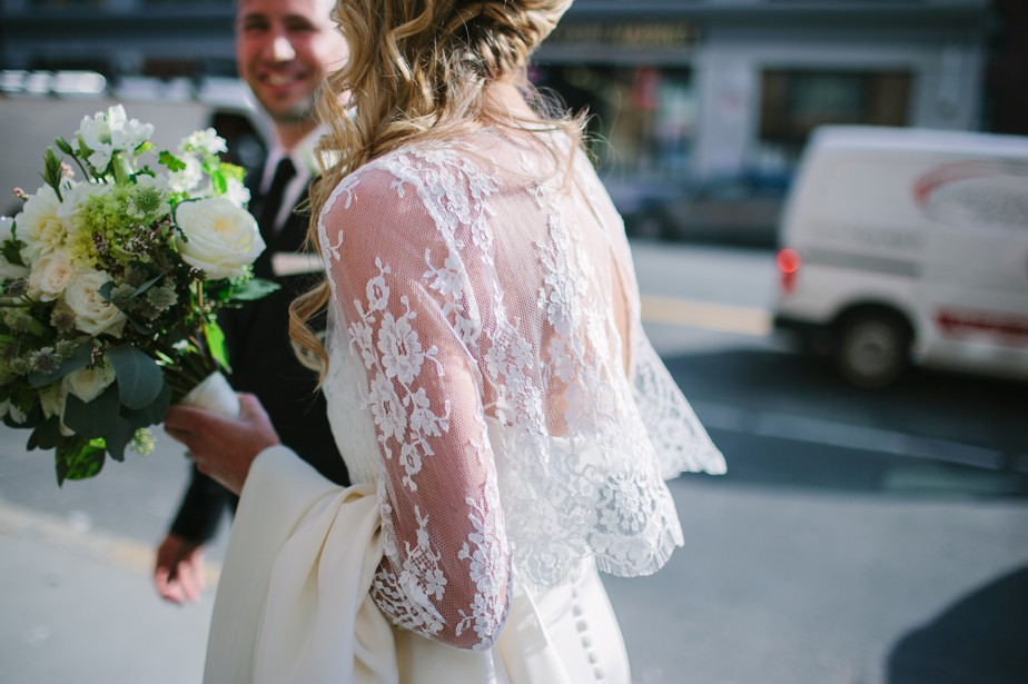 long sleeved lace wedding dress for boston wedding