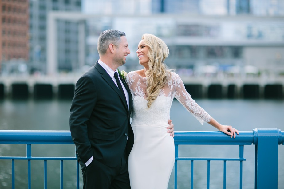 boston waterfront harbor wedding