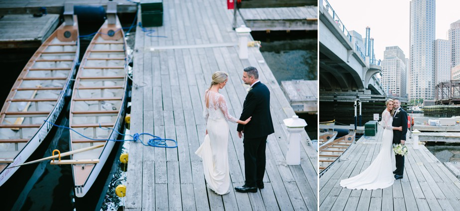downtown boston city wedding on waterfront