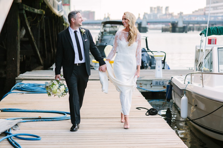 boston waterfront wedding photographer