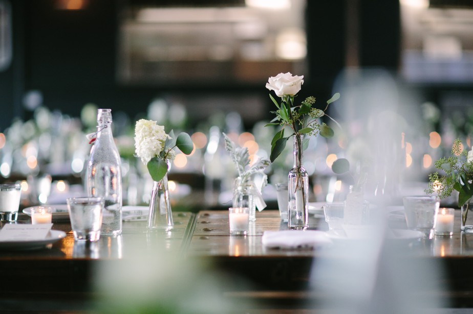 white and green wedding flowers at coppersmith boston