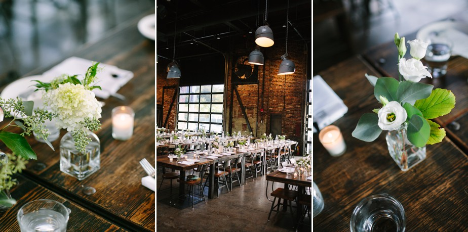 wedding set up at coppersmith boston wedding