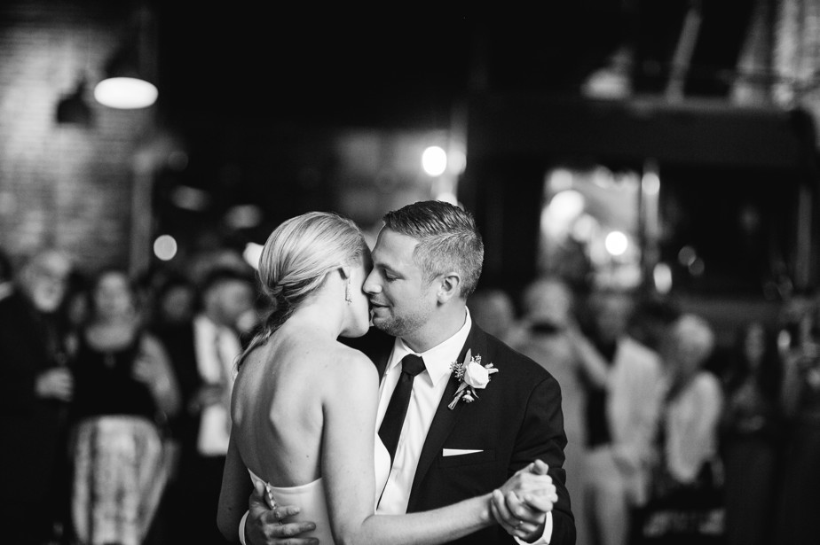 first dance romance boston restaurant wedding at coppersmith boston