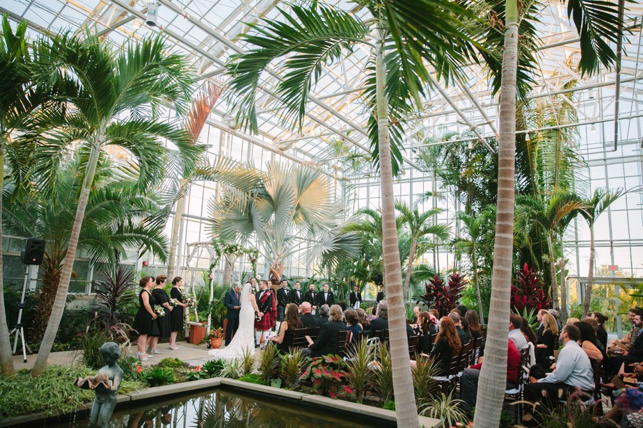 beautiful green house ceremony at Roger Williams Botanical Garden Wedding, Providence RI