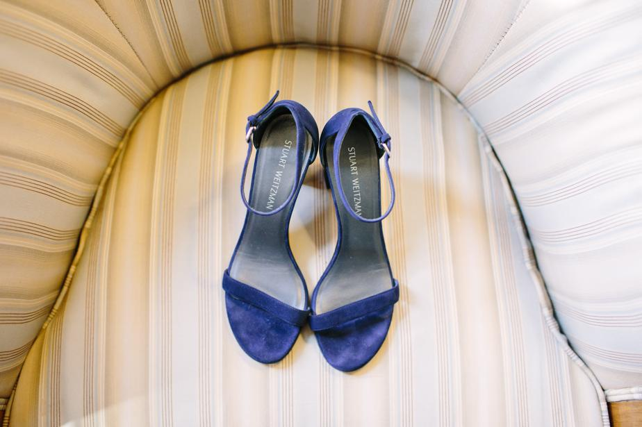 blue stewart weitzman wedding shoes at the estate at moraine farm wedding