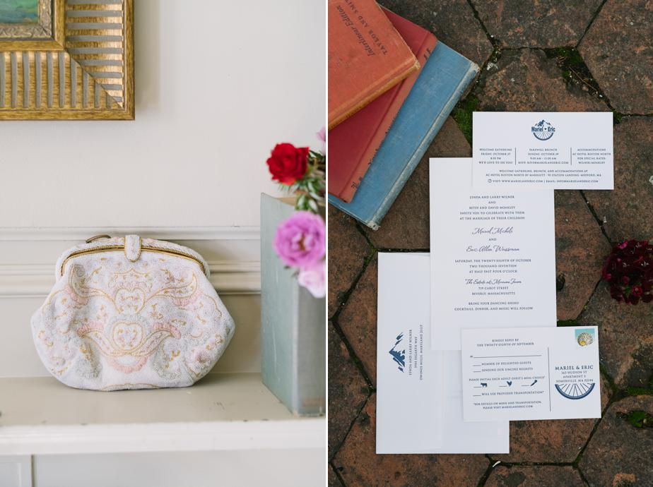 branded invitation suite for the estate at moraine farm wedding