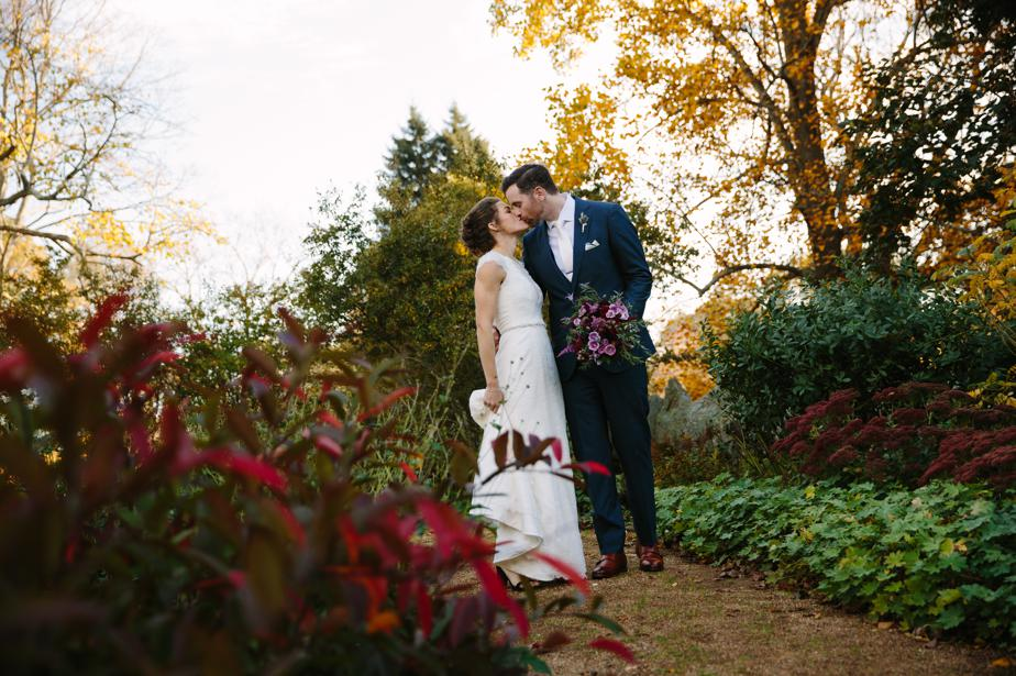 fall foliage at beautiful the estate at moraine farm wedding