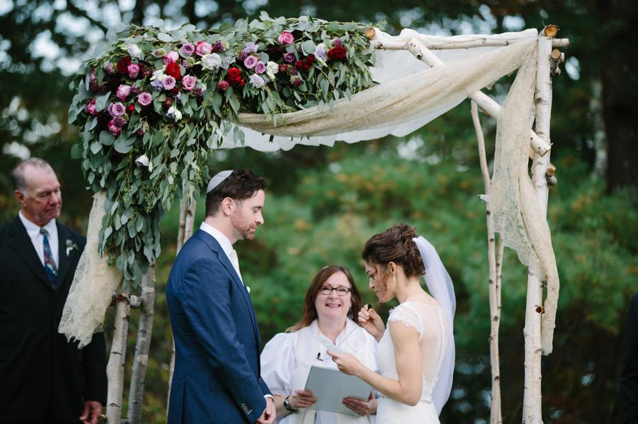 jewish wedding ceremony at the estate at moraine farm wedding