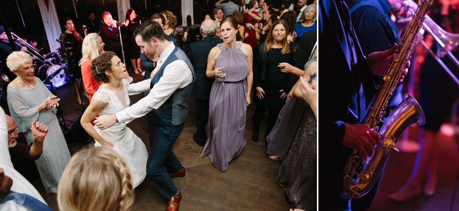 dance party at the estate at moraine farm wedding