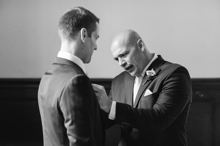 brothers help waterworks museum wedding in Brookline, MA