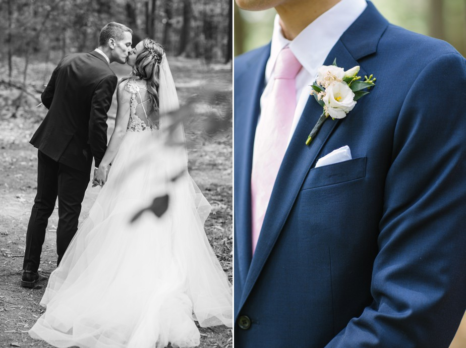 pink grooms tie for this boston wedding