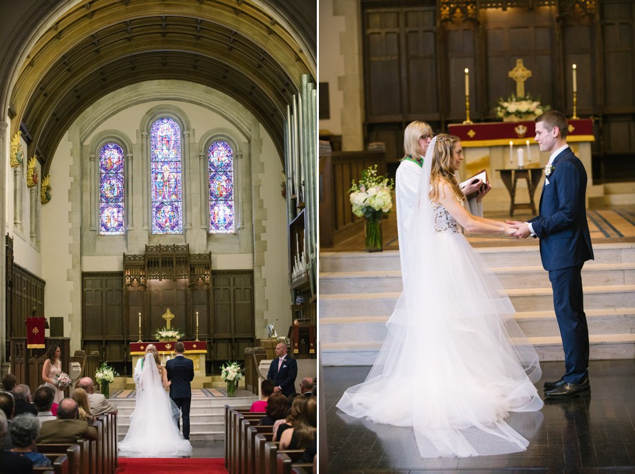 spring wedding at first congragational church winchester, MA