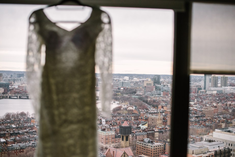 boston public library wedding dress hanging