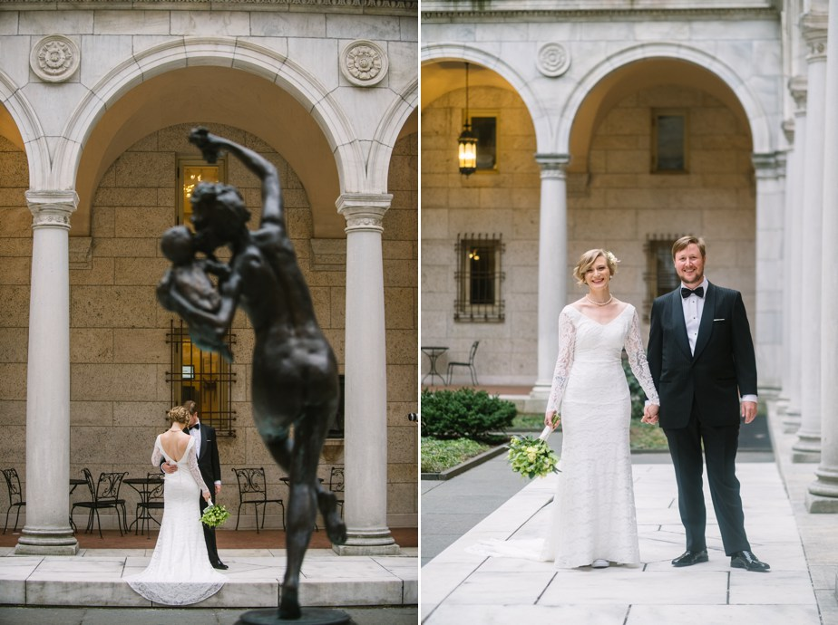 courtyard boston public library wedding