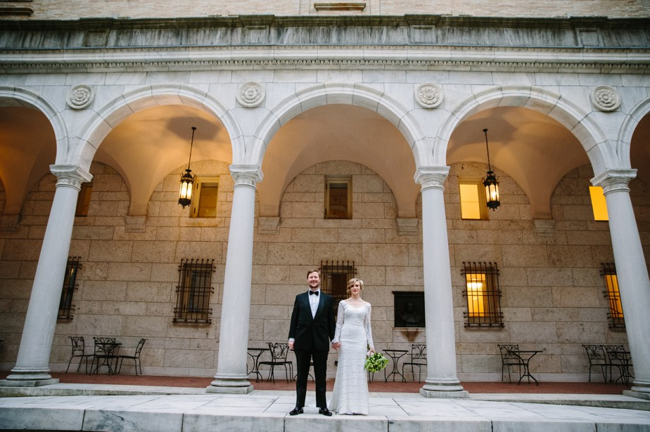 epic courtyard portraits boston public library wedding