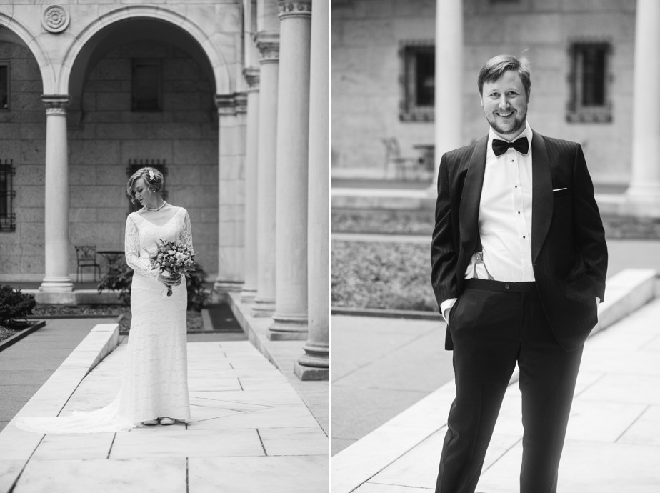 black tie wedding boston public library wedding
