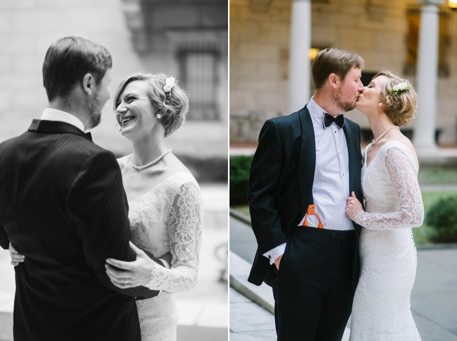 cute couple boston public library wedding