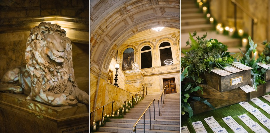 grand staircase details boston public library wedding