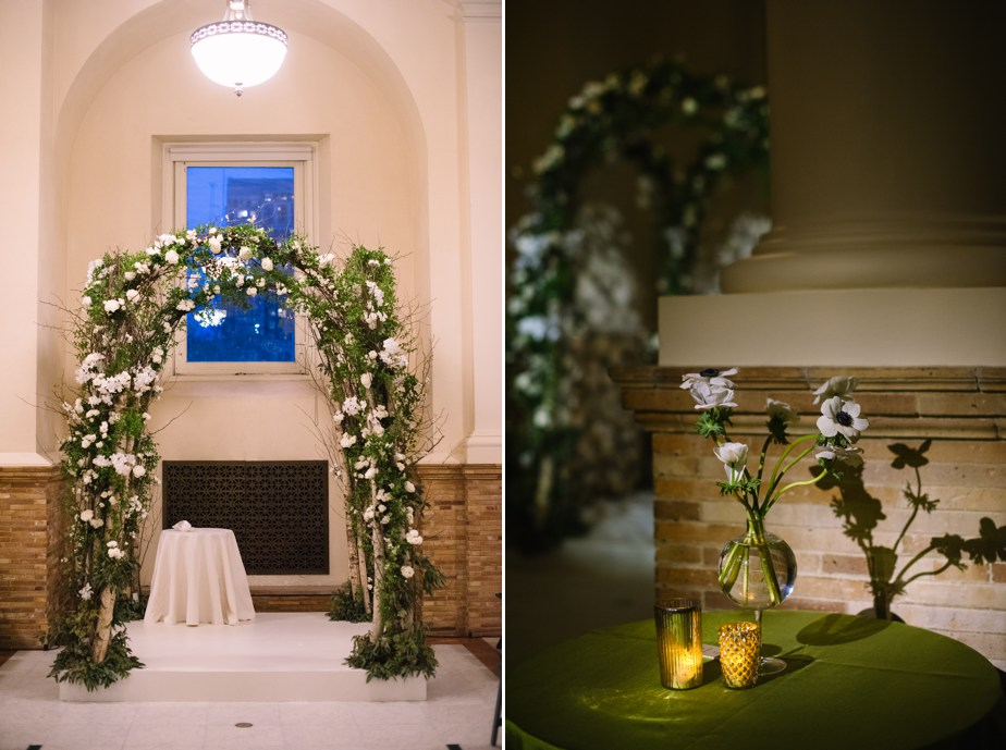 winston flowers orchid chuppah at boston public library wedding