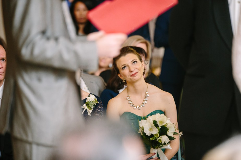 sister maid of honor at boston public library wedding