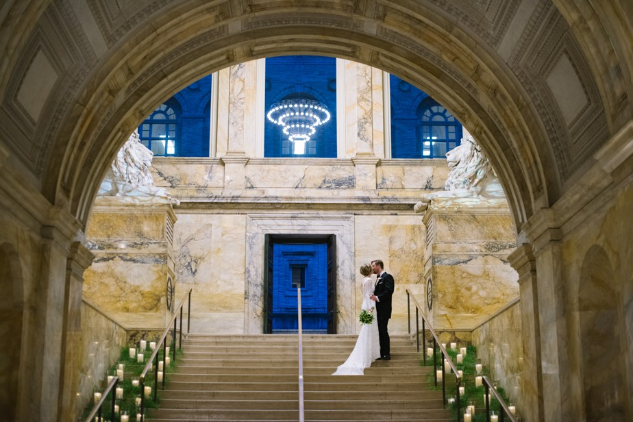 grand staircase BPL boston public library wedding