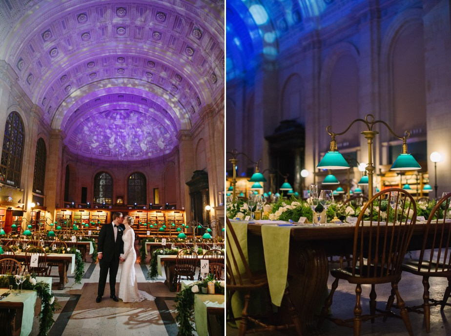 winter BPL boston public library wedding