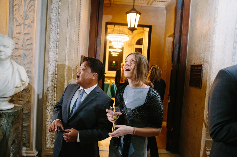 guests are amazed boston public library wedding