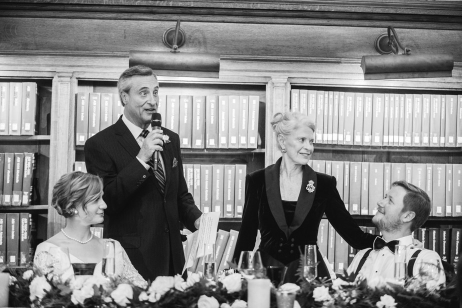 parents toasts boston public library wedding