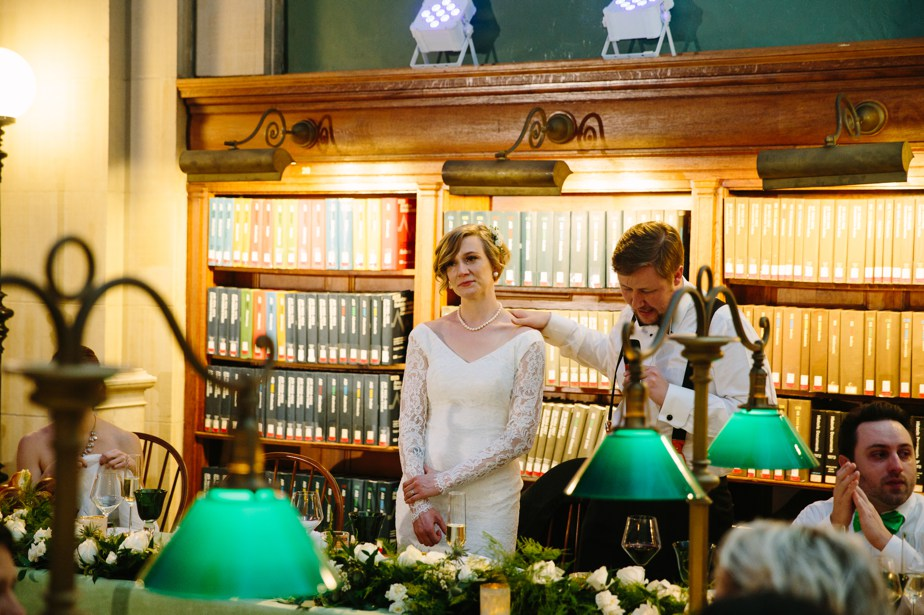 emotional toasts at winter boston public library wedding