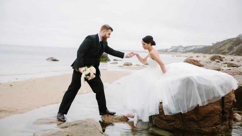cape cod beach wedding elopement